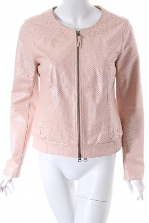 Sir Oliver Leather Jacket dusky pink casual look