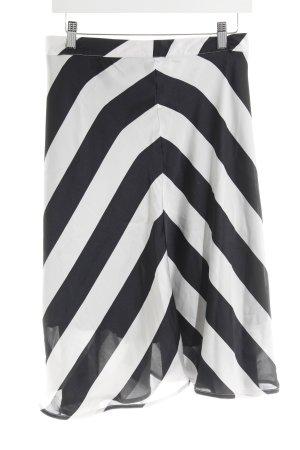 Sir Oliver Minirock schwarz-weiß Streifenmuster Elegant