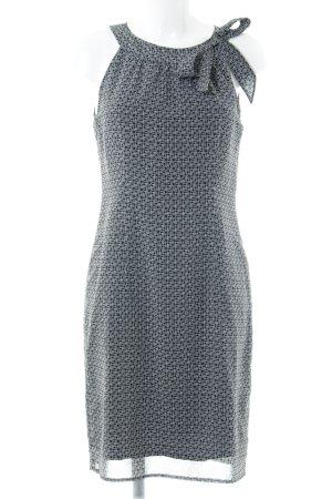 Sir Oliver schulterfreies Kleid schwarz-hellbeige abstraktes Muster Casual-Look