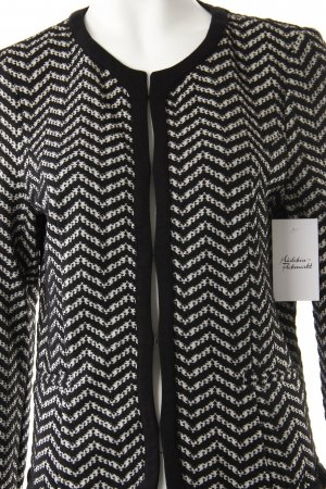 Sir Oliver Sweatblazer schwarz-weiß Zackenmuster Business-Look