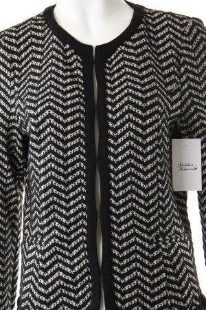 Sir Oliver Sweatblazer schwarz-weiß Zackenmuster schlichter Stil