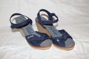 Sisal- Stoff Sandale von Tom Tailor