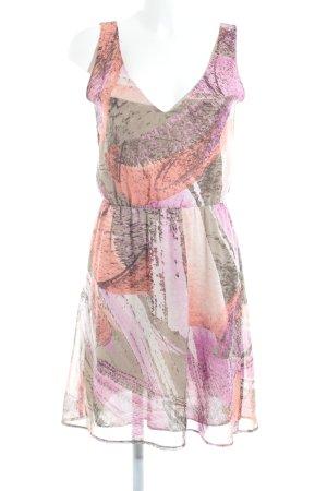 Sisley A-Linien Kleid abstrakter Druck Elegant
