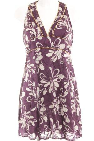Sisley A-Linien Kleid Blumenmuster Casual-Look