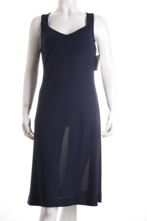 Sisley A-Linien Kleid dunkelblau schlichter Stil