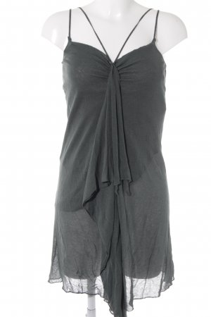 Sisley A-Linien Kleid dunkelgrün-schwarz Boho-Look