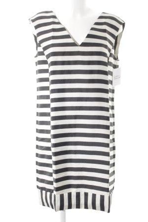 Sisley Abendkleid anthrazit-creme Streifenmuster Casual-Look