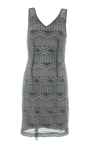 Sisley Abendkleid schwarz-nude Lochstrickmuster Casual-Look