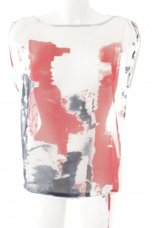 Sisley ärmellose Bluse abstrakter Druck Street-Fashion-Look