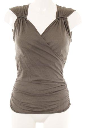 Sisley ärmellose Bluse graubraun Casual-Look
