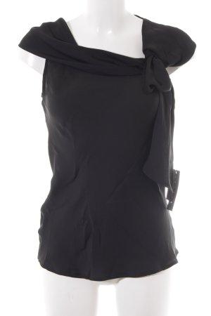Sisley ärmellose Bluse schwarz Elegant