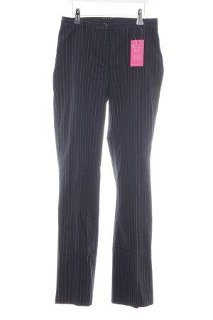 Sisley Pantalon de costume bleu foncé motif rayé style d'affaires