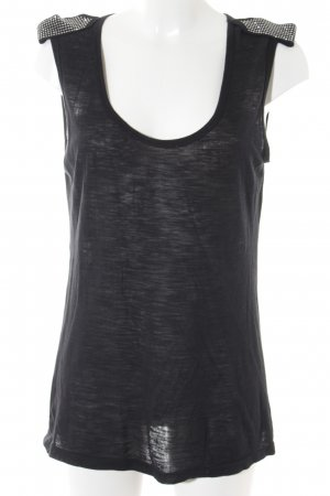 Sisley Basic Top schwarz Casual-Look