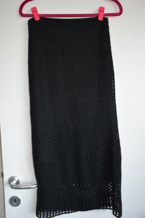 Sisley Jupe tricotée noir mohair