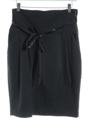Sisley Bleistiftrock schwarz-dunkelgrau Hahnentrittmuster Business-Look