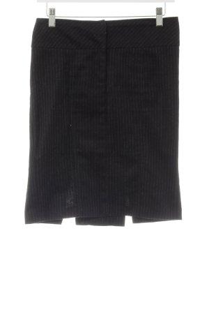 Sisley Bleistiftrock schwarz-weiß Nadelstreifen Casual-Look