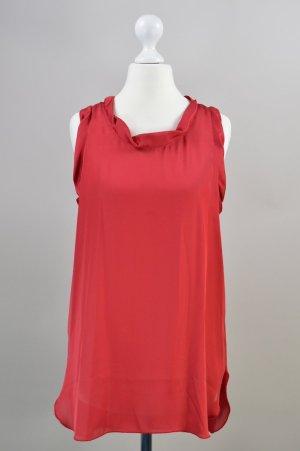 Sisley Bluse elegant rot Größe XS