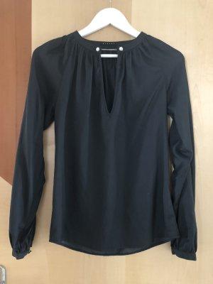 Sisley Bluse Nachtblau/ Schwarz Größe XS