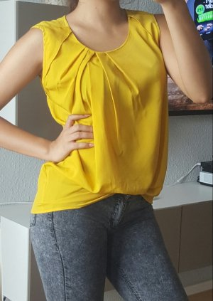 Sisley Bluse Top Gelb