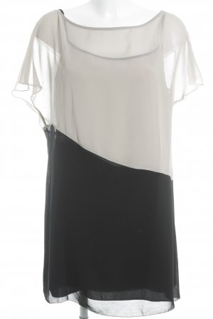 Sisley Blusenkleid schwarz-creme Elegant