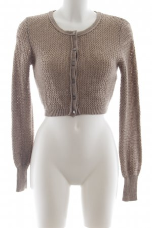 Sisley Bolero beige loosely knitted pattern