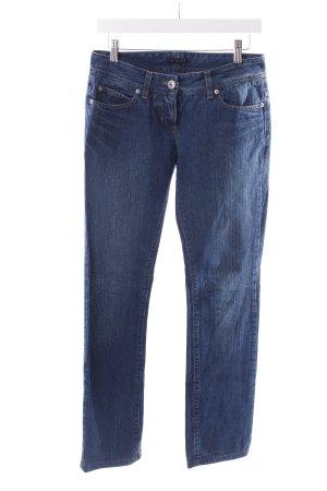 Sisley Boot Cut Jeans stahlblau Zierbesatz