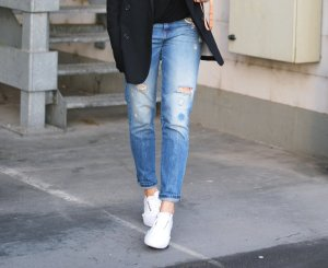 Sisley Boyfriendjeans Perlen Applikation Casual-Look