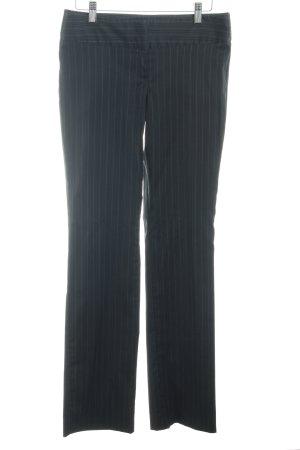 Sisley Pantalon à pinces noir-blanc rayure fine style d'affaires