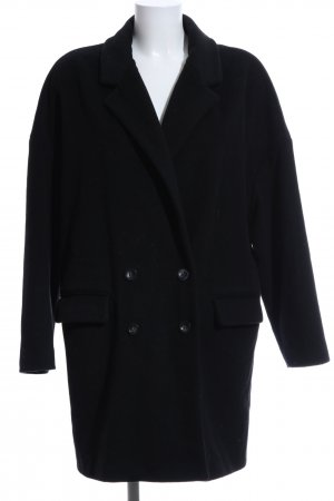 Sisley Heavy Pea Coat black business style