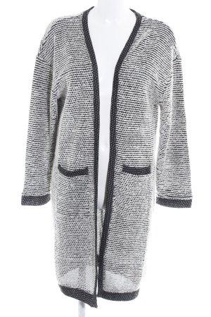 Sisley Cardigan schwarz-weiß Casual-Look