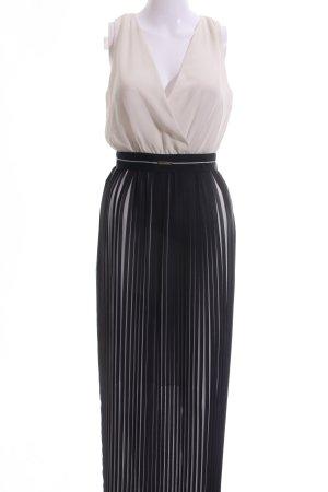 Sisley Chiffon Dress nude-black striped pattern elegant