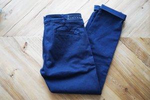 Sisley Chino Hose marineblau navy 7/8 dunkelblau Baumwolle bequem 34 XS wie neu