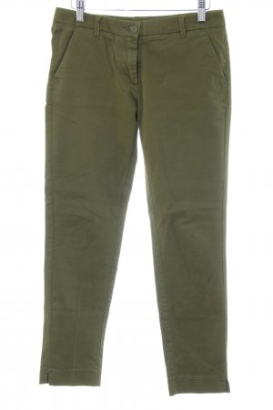 Sisley Chinohose khaki Allover-Druck Jeans-Optik