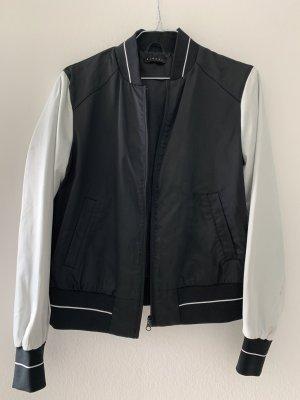 Sisley Chaqueta estilo universitario negro-blanco