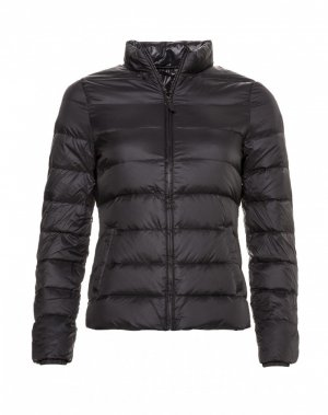 Sisley Down Jacket black polyamide