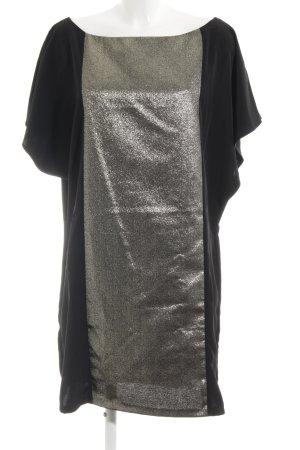 Sisley Etuikleid schwarz-goldfarben Elegant