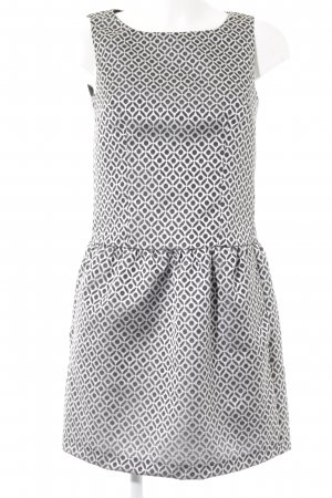 Sisley Etuikleid schwarz-weiß abstraktes Muster Casual-Look