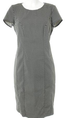 Sisley Etuikleid schwarz-weiß Punktemuster Business-Look