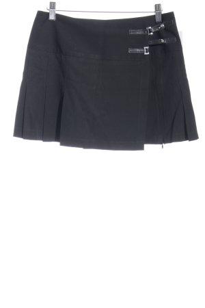 Sisley Faltenrock schwarz 90ies-Stil
