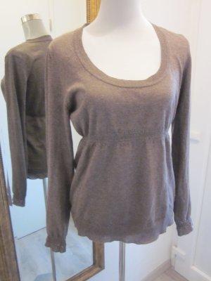 Sisley Feinstrick Pullover Tailliert Gr S/M hellbraun