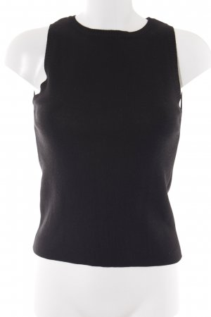 Sisley Feinstrickpullunder schwarz Casual-Look
