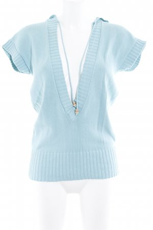 Sisley Fine Knitted Cardigan turquoise simple style