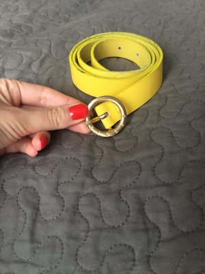 Sisley gelbe Leder Gürtel