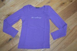 Sisley Glitzerapplikation Langarmshirt, lila, Größe 36