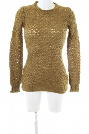 Sisley Coarse Knitted Sweater gold-colored casual look