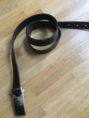 Sisley Belt black brown-silver-colored