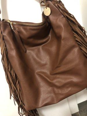 Sisley Sac à franges brun