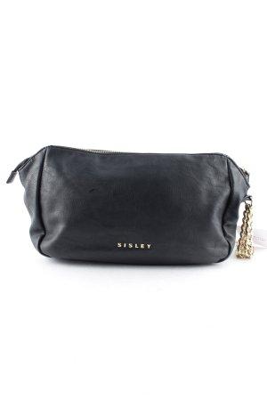Sisley Handtasche schwarz-goldfarben Casual-Look