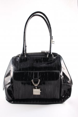 Sisley Handtasche schwarz Lack-Optik