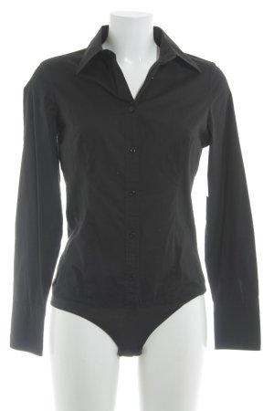 Sisley Hemd-Bluse schwarz schlichter Stil
